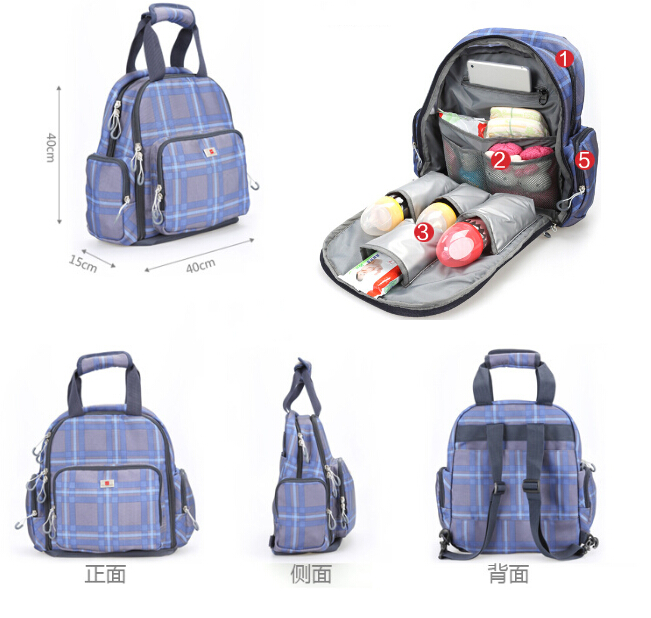 New multifunctional baby diper backpacks high quality nappy diaper bag backpack for mum large capacity maternity mummy bag