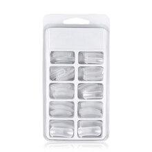 100 шт Прозрачная форма для Ногтей Полное покрытие быстрое строительство гелевая форма 12 размеров советы наращивание ногтей Маникюрные ногти аксессуары макияж инструменты