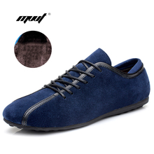 Hot sell Men Casual Shoes real suede men leather shoes Comfortable Men Flat Shoes Lace-up Solid Men autumn Winter Shoes
