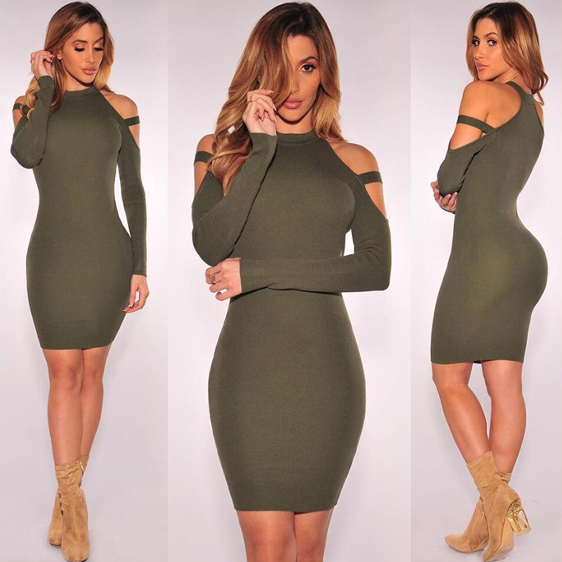 skitzyou Sexy Off Shoulder Club Party Autumn Dresses Women Long Sleeve  Elastic Soft Bodycon Black Winter Mini Dress vestidos New-in Dresses from  Women s ... c1640ca12570