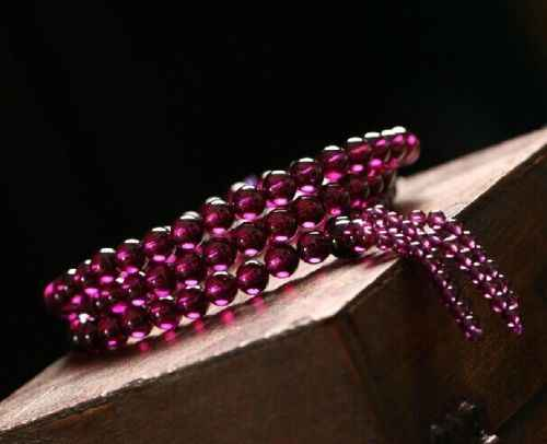 Free shipping ddh001429 genuine Purple Stone garnet lady necklace natural chain pendant bead (B0409)