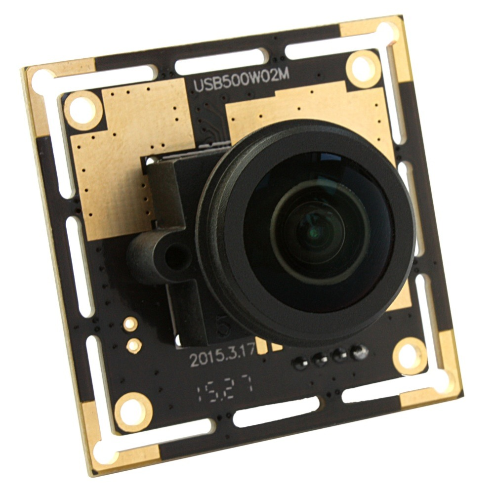 ELP 5Megapixel Cmos ov5640 Wide Angle Webcam Web Camera Module USB Fisheye Camera 5MP with 1/2 inch1.56mm 180degree fisheye lens elp oem 170 degree fisheye lens wide angle mini cmos ov5640 5mp autofocus usb camera module for android linux windows