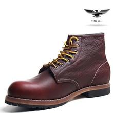 2017 die Handgefertigten frühlingsqualitäts Männlichen Lederstiefel Martin stiefel Japanischen Goodyear Herren Arbeitsschuhe ROTE Flügel Schuhe