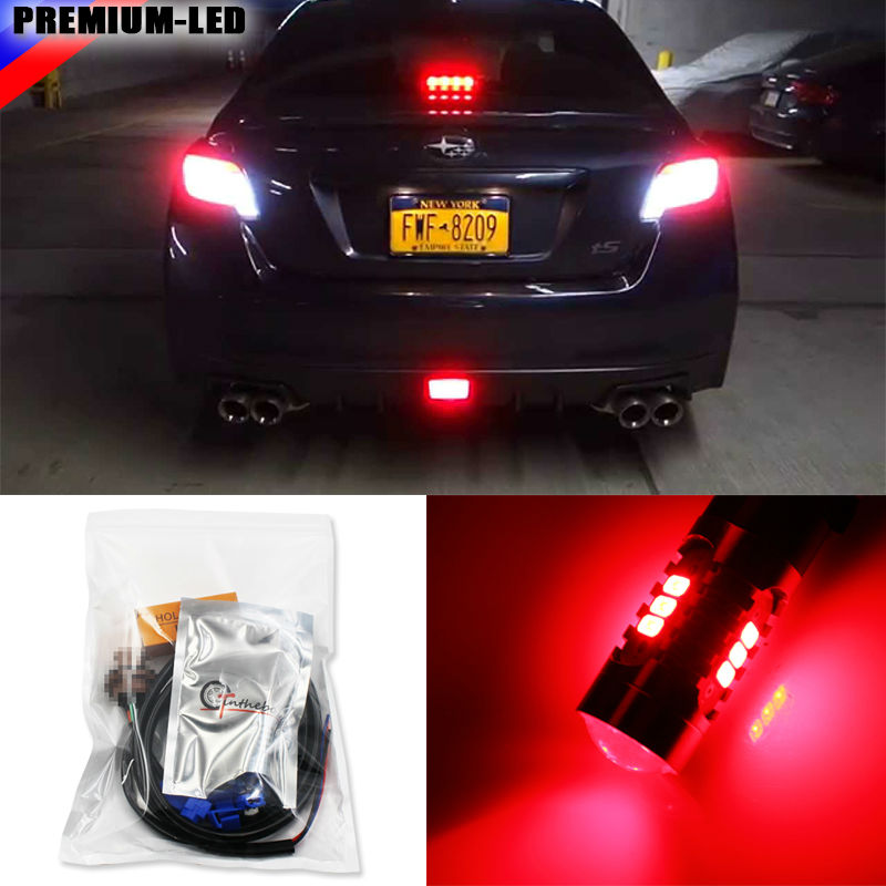 Super Red 3rd LED Brake Light DIY Conversion Kit For Scion FR-S tC Subaru BRZ Toyota 86 Nissan 370Z and more universal black 3 76mm polished aluminum fmic intercooler piping kit diy pipe length 450mm for toyota supra jza80 hu lgtj76 450