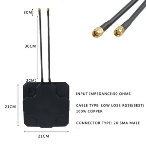Image 4 - 2 * 22dBi outdoor 4G LTE MIMO antenne, LTE dual polarisatie panel antenne SMA MALE connector 30cM kabel