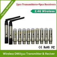 DHL Free Shipping Good Quality Dmx Wireless Controller Transmitter Receiver Dmx 512 Wireless Dmx