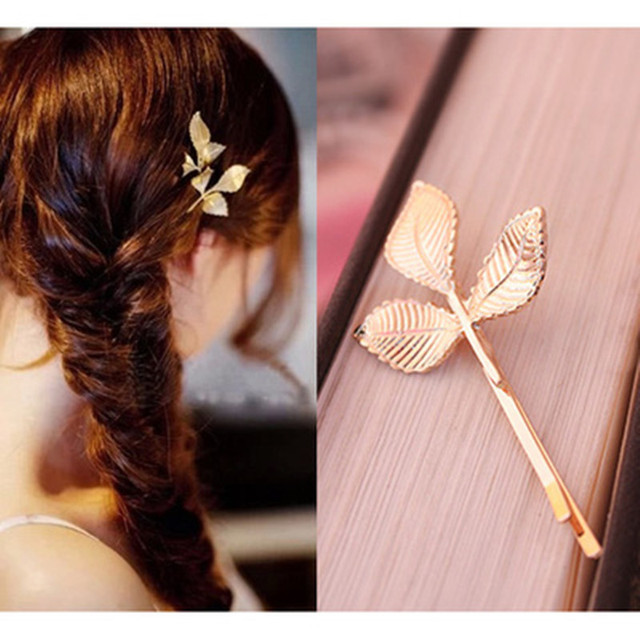 Girls Fashion Gold Silver Hair Clip Hair Pin