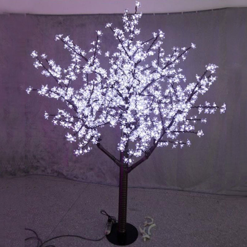 Free ship LED Christmas wedding party Holiday Light Cherry Tree 5FT 1.5M Height Waterproof 480pcs LEDs White Outdoors waterproof