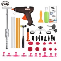 PDR Tools Kit Dent Puller Glue Tabs Suctions Glue Gun Hot Melt Glue Sticks Paintless Dent
