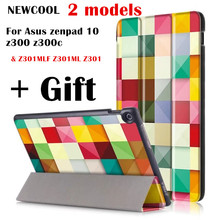 Color Case for ASUS Zenpad 10 Z301MLF Z301ML Z301 10.1″ Tablet Case, PU Leather Stand Auto Wake Smart Cover case +screen film
