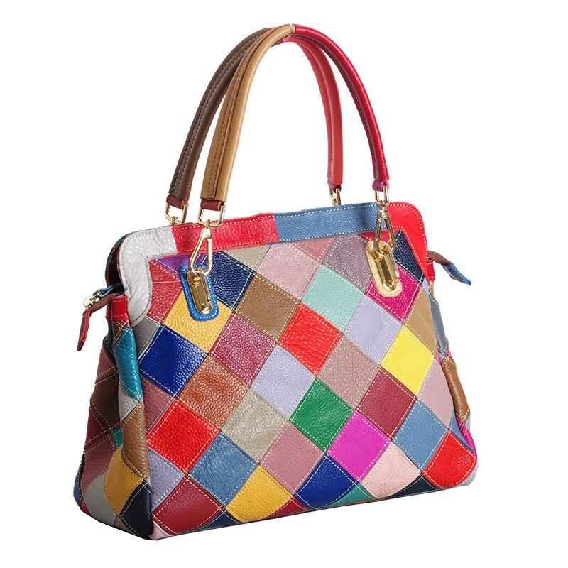 Peau 466 Main Layer Mode Designer Coloré Sac Et Couleur Totes De Colorful Femmes Vache Nouvelle Top Sacs Loisirs Bandoulière À nwwIx