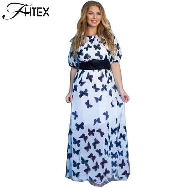 Plus size butterfly dress