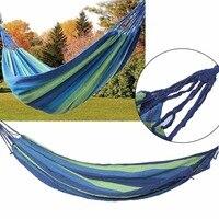 2017 New Arrival Outdoor Portable Hammock Garden Sport Home Travel Camping Canvas Stripe Hang Swing Single
