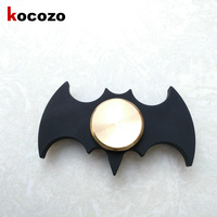 Black Cool Bat Top Spinner Toy for Autism and ADHD Focus Anxiety Relief Stress Gift Toys Kids Fidget Spinner Metal Copper
