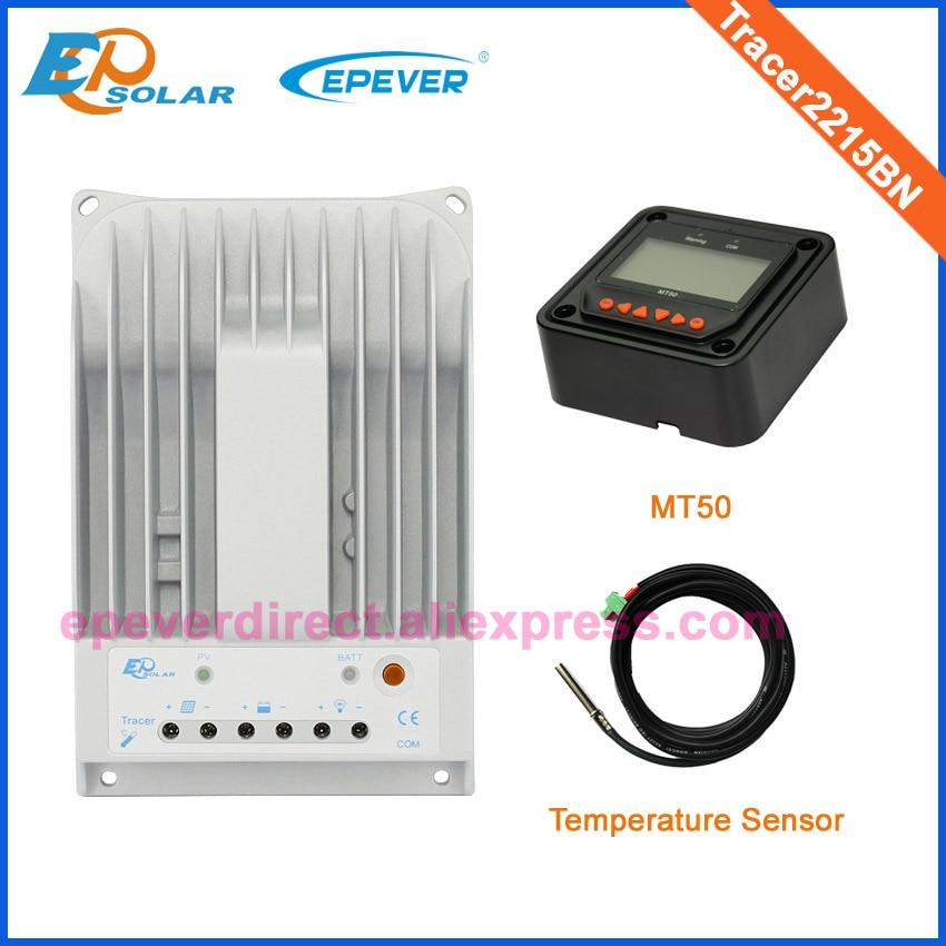 Tracer2215BN 12 v/24 v MPPT batteria Solare regolatore di carica Con MT50 metro remoto e sensore di temperatura per lusoTracer2215BN 12 v/24 v MPPT batteria Solare regolatore di carica Con MT50 metro remoto e sensore di temperatura per luso