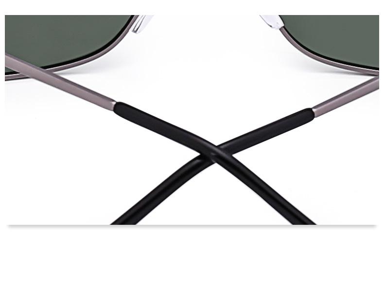 Arvin Green/Gray/Brown Rectangular Sunglasses Online