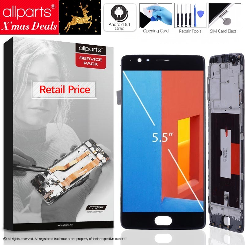 AMOLED Original Display For OnePlus 3 LCD Touch Screen with Frame For Oneplus 3 Display LCD Replacement One Plus 3 A3000 a3003