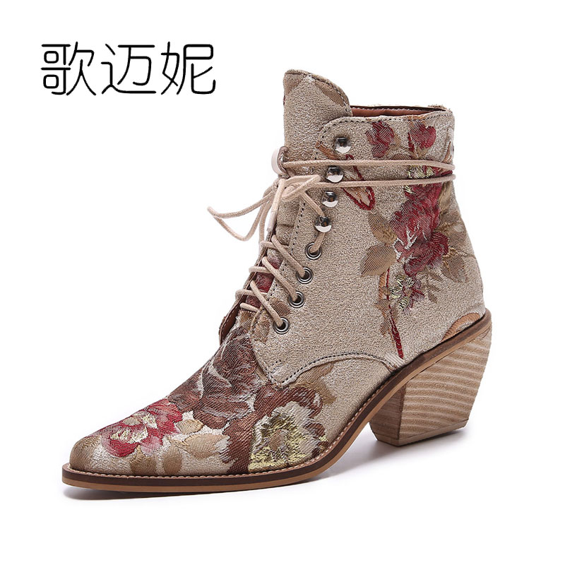 high heel ankle boots women booties shoes womens boots winter 2017 woman embroidered boots botines mujer botte femme bottine fashion women snow ankle boots fur bota femininas zapatos mujer botines botte chaussure femme botas winter woman shoes flat heel