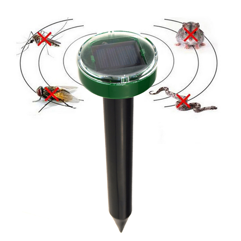 Hot New Outdoor Solar Power Ultrasonic Mole Snake Mouse Pest Reject Repeller Control for Garden Yard XH8Z JU25