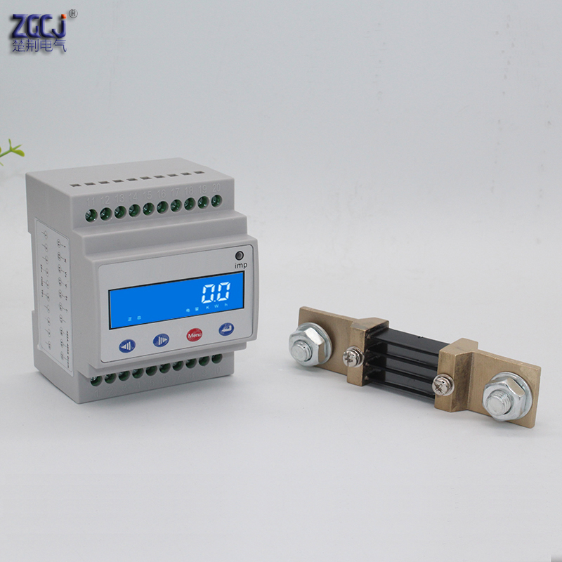 DC 0 1000V 400A DC charging pile Din type DC energy meter solar photovoltaic forward and