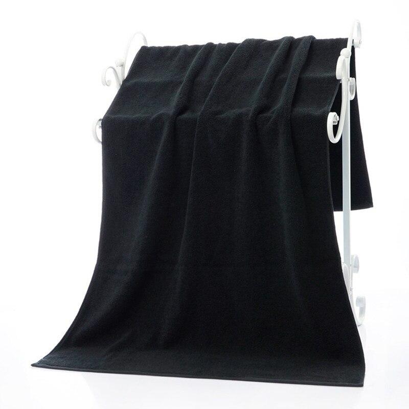 LFH noir Serviette De Bain 70X140 CM surdimensionné grande Serviette De Bain absorbant 100% pur coton Serviette utilisation polyvalente pour le Bain Yoga