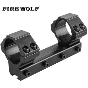 FIRE WOLF 30mm One Piece Low Profile Dovetail Scope Mount Rings Adapter W 11mm Long 100mm Rifles Pistol Airsoft Hunting Caza