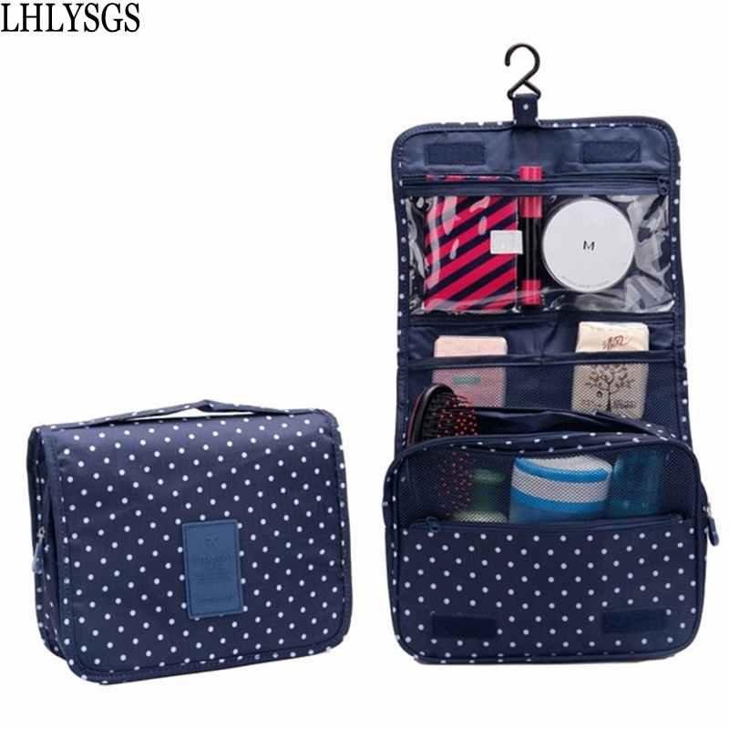 LHLYSGS Brand Unisex Travel Carry Wash Toiletries Beauty Cosmetic Bag Bathroom Organizer Toiletry Hanging Waterproof Makeup Bag ...
