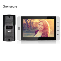 FREE SHIPPING Home Phone Wired 7 TFT LCD White Touch Screen Video DoorPhone Intercom System With