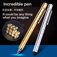 Magnetic Metal Pen Cute Gel Ink Pen Creative Office Stationery Polar Capacitor Magnet Writing Supplies Gel