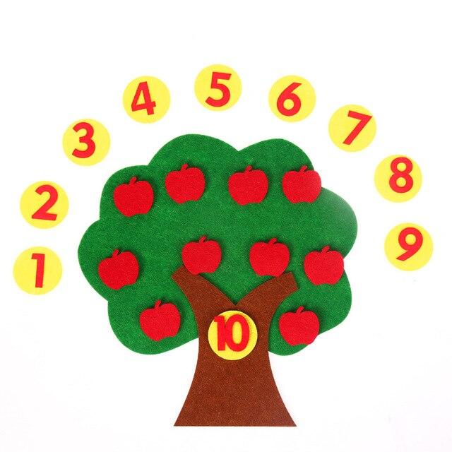 Montessori Apple Arbre Numérique Nombre 1-9 Travail Manuel Jouets Éducatifs Préscolaires Jouets D'apprentissage Pour Les Enfants Juguetes Brinquedos