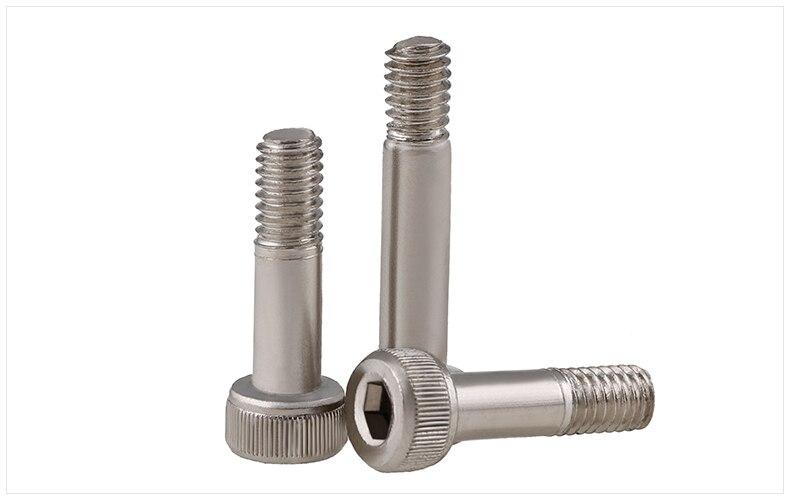 Model bushing screw Carbon steel M2 M3 M4 screw half thread Nickel 12.9 grade high strength semi thread hexagon socket 20pcs m3 6 m3 x 6mm aluminum anodized hex socket button head screw