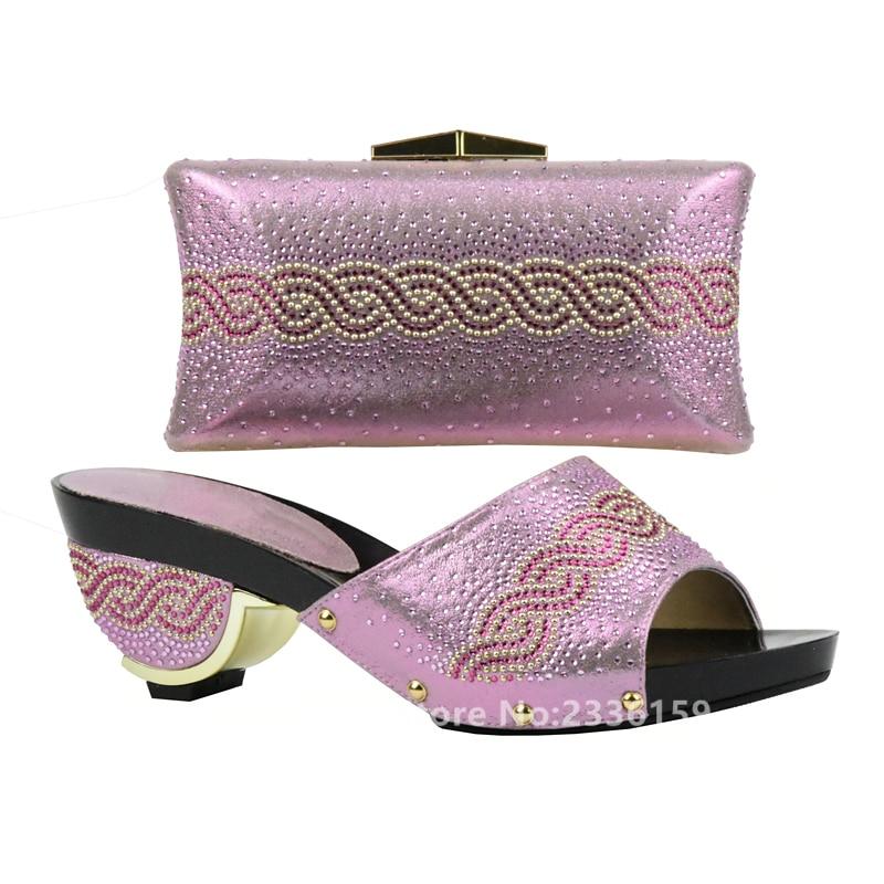 De oro Conjunto rosado Bolso Italianos Alta Mujeres A África Púrpura Las Cielo Zapatos púrpura Juego Azul Con Color Bolsas El Los plata Para La Fiesta Establece Calidad Y w478qfc5SE
