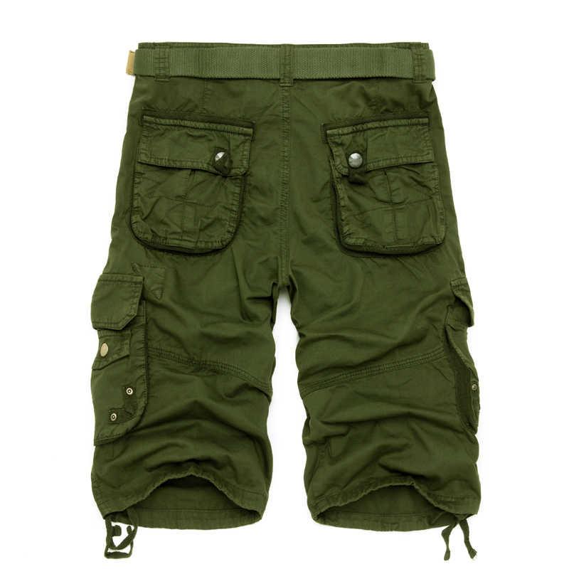 Camo Military Shorts Bermuda 2020 Summer Camouflage Cargo Shorts Men Cotton Loose Tactical Short Pants No Belt