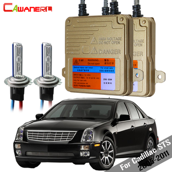 Cawanerl 55W Car Canbus HID Xenon Kit Bulb Ballast AC For Cadillac STS 2005-2011 Headlight Low Beam 3000K 4300K 6000K 8000K