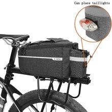 Bicycle Bag Waterproof Bike Bags Cycling Rear Rack Insulated  Storage Bag Night Reflective Strip MTB Bike Shoulder Bags