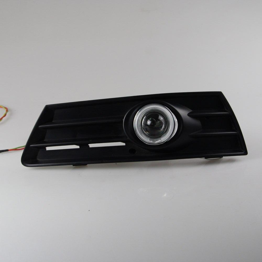 СИД DRL дневного света CCFL для глаза ангела, объектив проектора противотуманная фара с крышкой для Фольксваген Пассат СС 2010-12, 2 шт