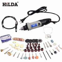 Russia Hilda 400W Mini Electric Drill With 6 Position Variable Speed Dremel Rotary Tools Mini Grinder