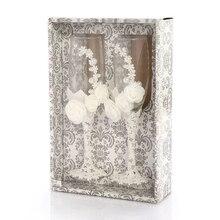 Практичный Бутик 2 шт./компл. Свадебные Стекло es персонализированные Шампанский флейт кристаллический вечерние подарок тостов Стекло Кубок Anniver