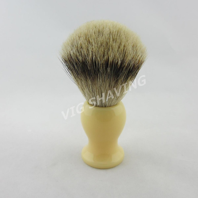 Style 1# Silvertip Badger Shaving Brush Resin handle in Begie color, free shipping