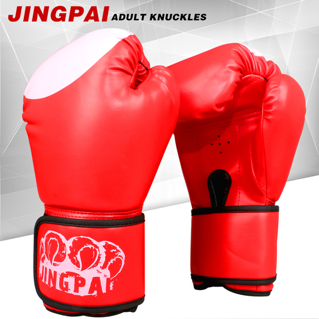 39af7b27c Boxing Gloves Sanda Kungfu Wushu Fighting Sandbag Training Luvas boxeo  Guantes for Male Female 10 oz PU Muay Thai