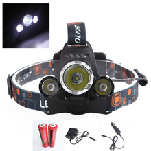 New 4000 Lumen XM-L T6 R2 LED Headlamp Headlight Camping Hunting Head Light Lamp 4 Modes +2*18650 Battery + AC/Car Charger