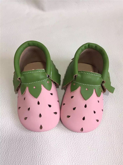 New Genuine Leather Soft Baby Shoes pink baby girls First Walkers Baby Moccasins Anti-slip Infant Kids Shoes