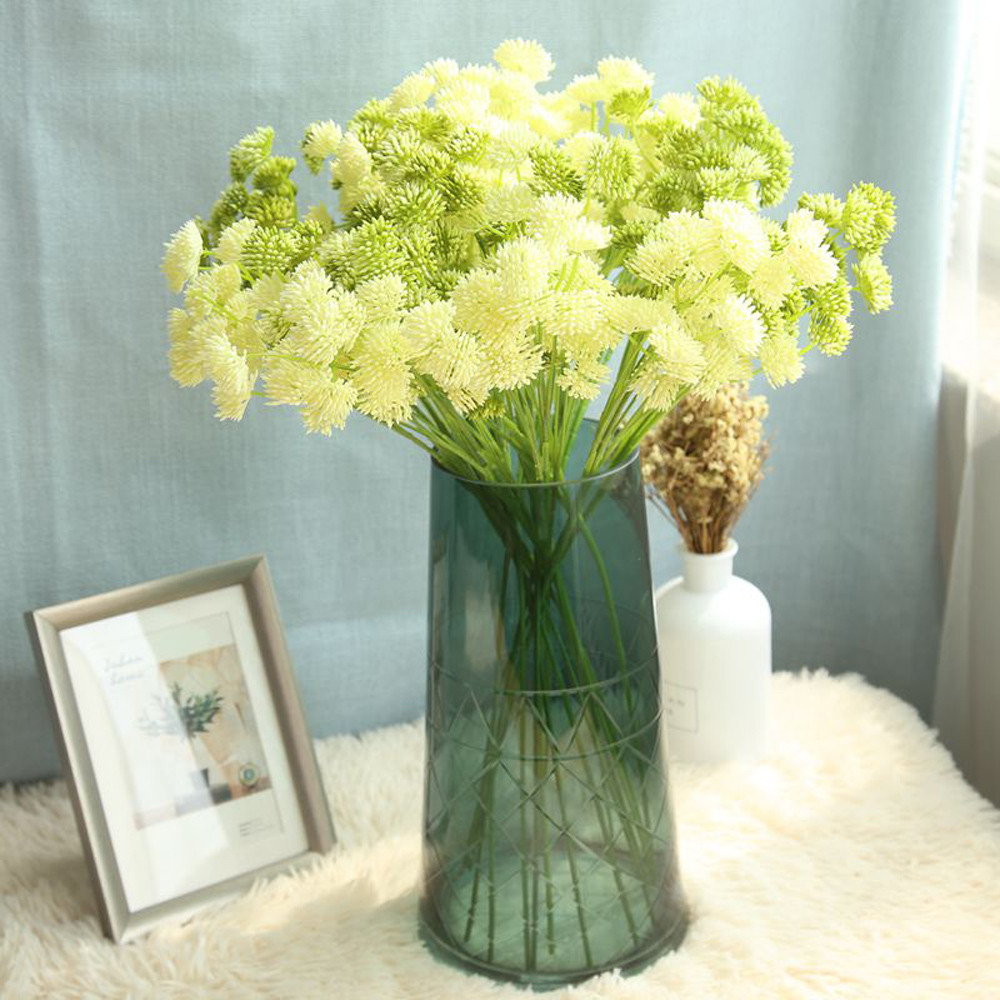 Wholesale Artificial Silk Fake Flowers Dandelion Floral Wedding