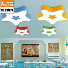 CM062 cartoon color LED children ceiling lamp star bedroom lamp warm modern kindergarten lamps