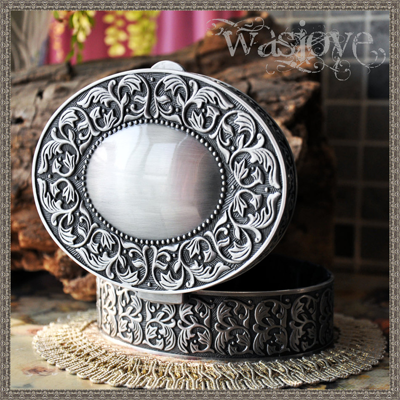 Home Decor Figurines & Miniatures Collection Here Mermaid Tears Type Round Bracelet Box For Jewelry Ring Necklace Earring Display Packaging Metal Jewelry Holder 12.5*9.5*4.5cm Comfortable And Easy To Wear