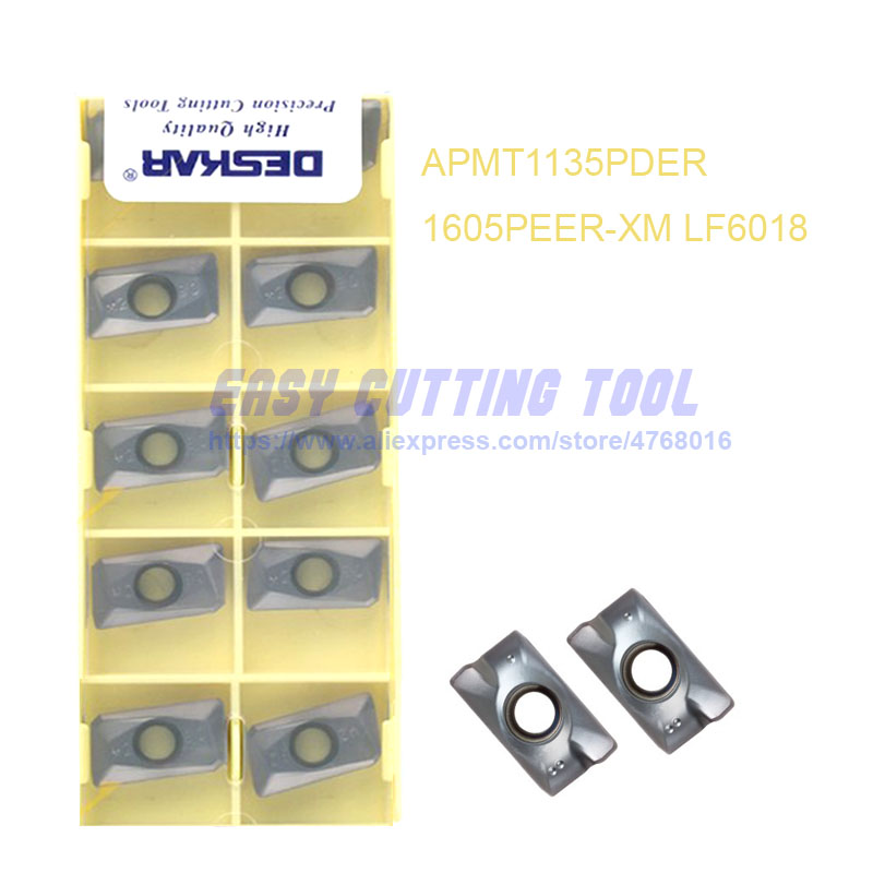 10P APMT1605PEER-XM LF6018 CNC Milling Carbide Inserts For stainless steel