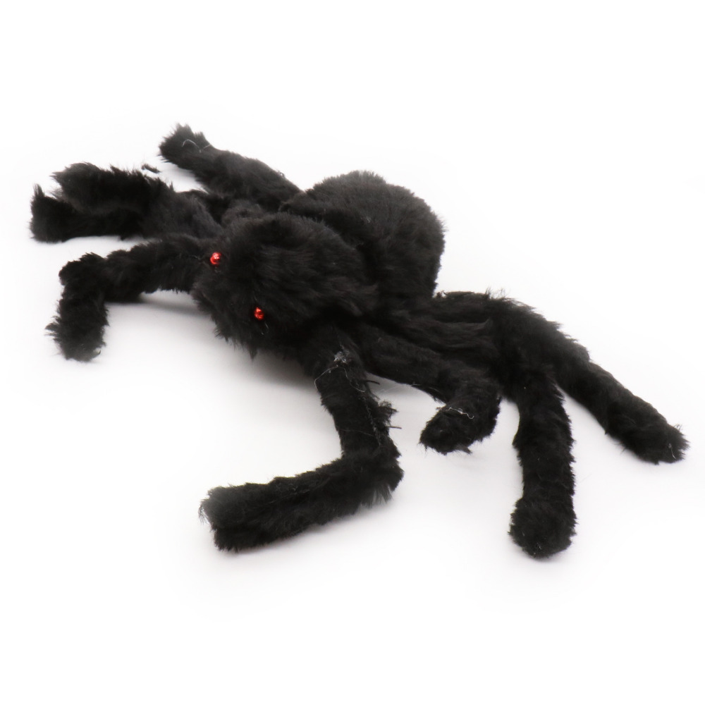 Home & Garden Cheap Price 20pcs Plastic Black Spider Funning Joking Toys Decoration Realistic Props Halloween Decoration Festival Supplies Clear And Distinctive