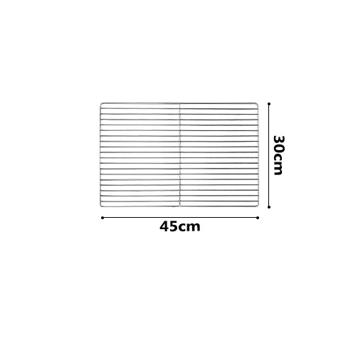 30 * 45cm BBQ Stainless Steel ROD Replacement Cooking Grill Grid Grate 1