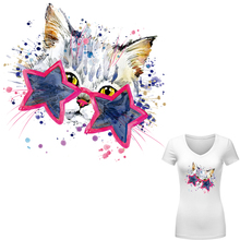 Cute Patches for Clothes Cat with Stars