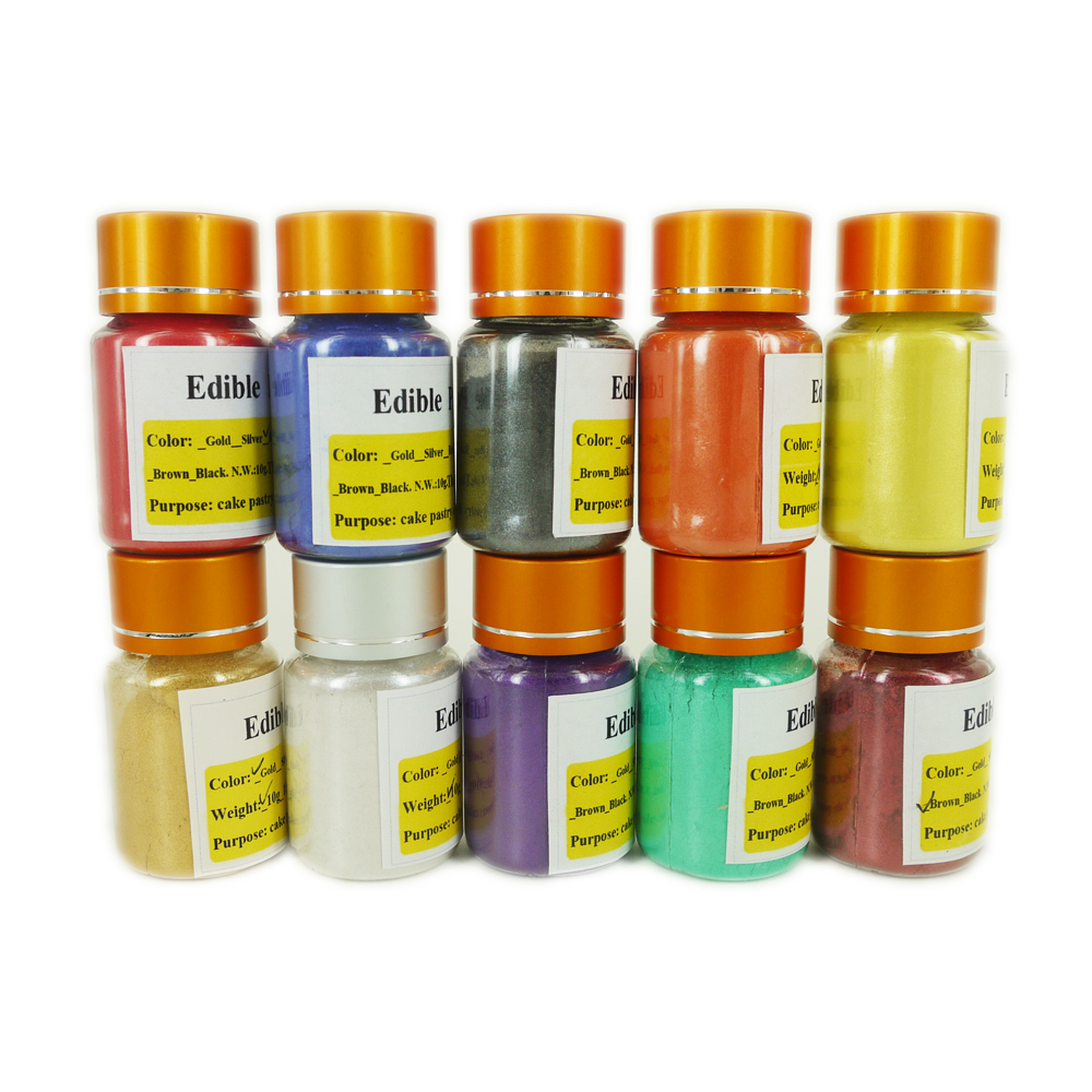 US $8.1 19% OFF|10g per bottle Edible food coloring gold powder Handmade  chocolate fondant cake baking decoration Arts food grade powder-in Craft ...